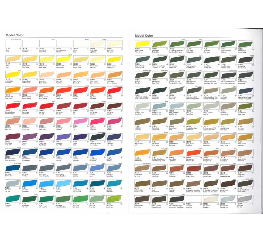 Handpainted Color Card Model Color - CC970