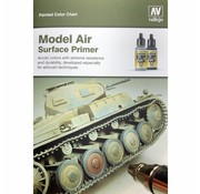 Vallejo Handpainted Color Card Model Air - CC971