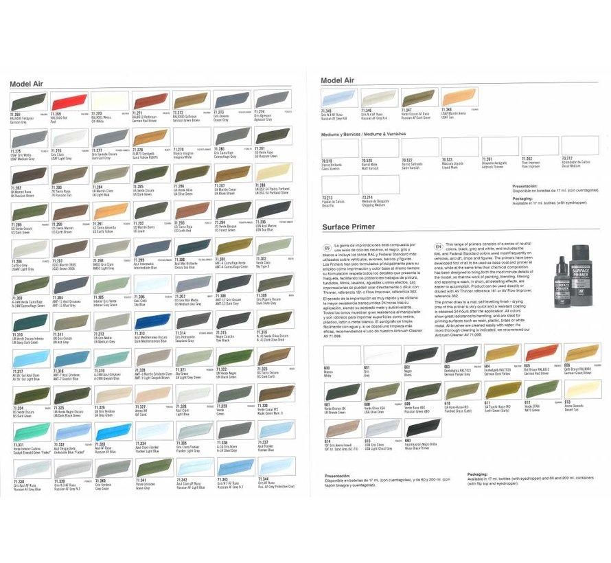 Handpainted Color Card Model Air - CC971