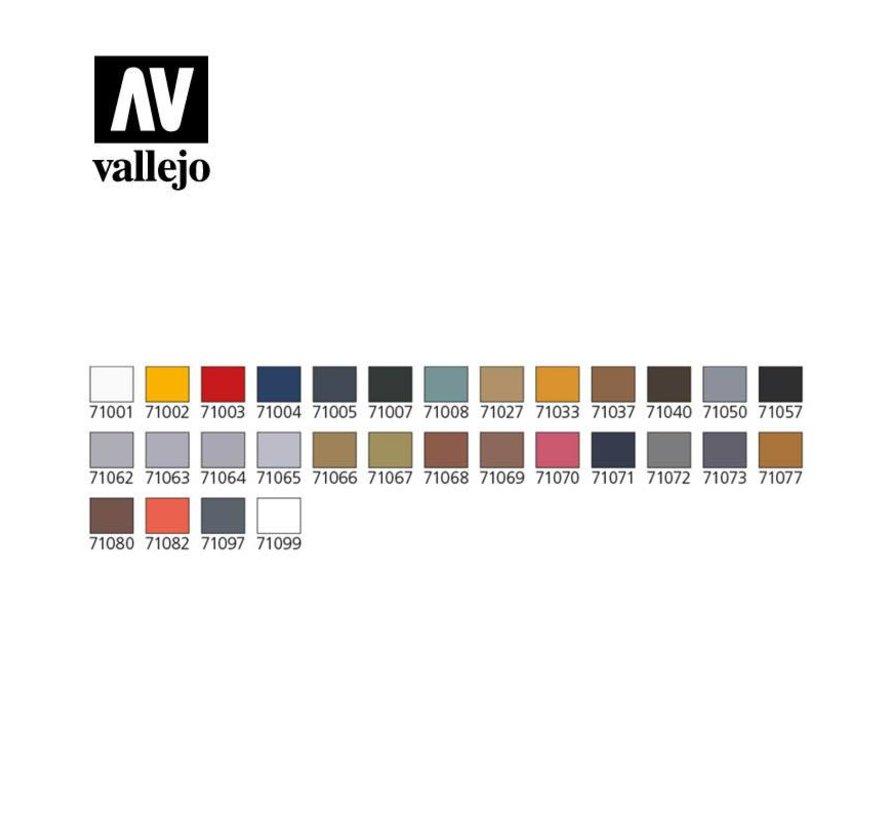 Model Air Basic Set + Airbrush - 29 kleuren - 17ml - 71172