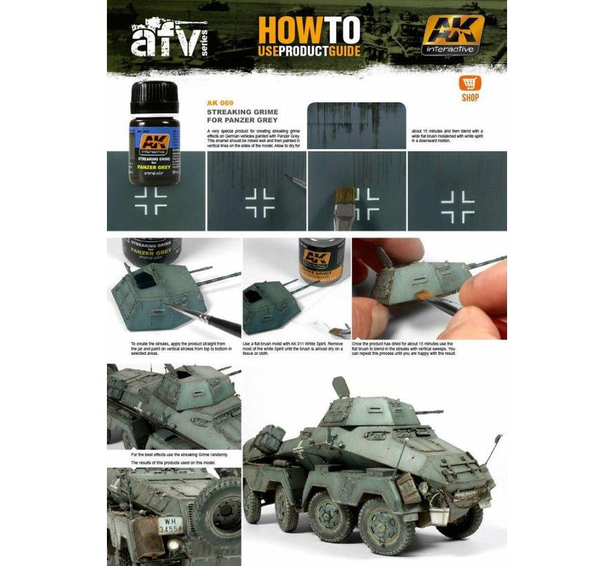Streaking Grime For Panzer Grey Vehicles - Streaking Weathering - 35ml - AK-069