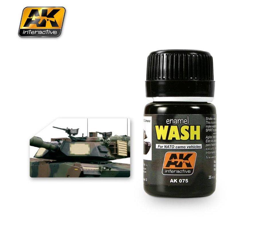 Wash For Nato Vehicles - Weathering Wash - 35ml - AK-075