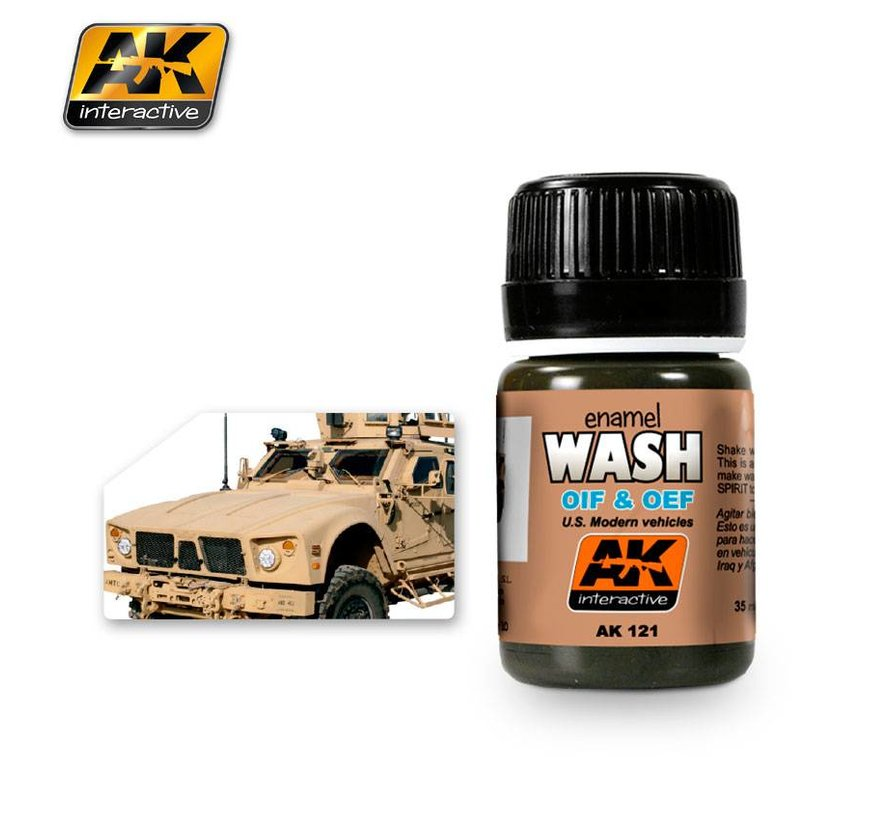 Wash For OIF & OEF - US Vehicles - Weathering Wash - 35ml - AK-121