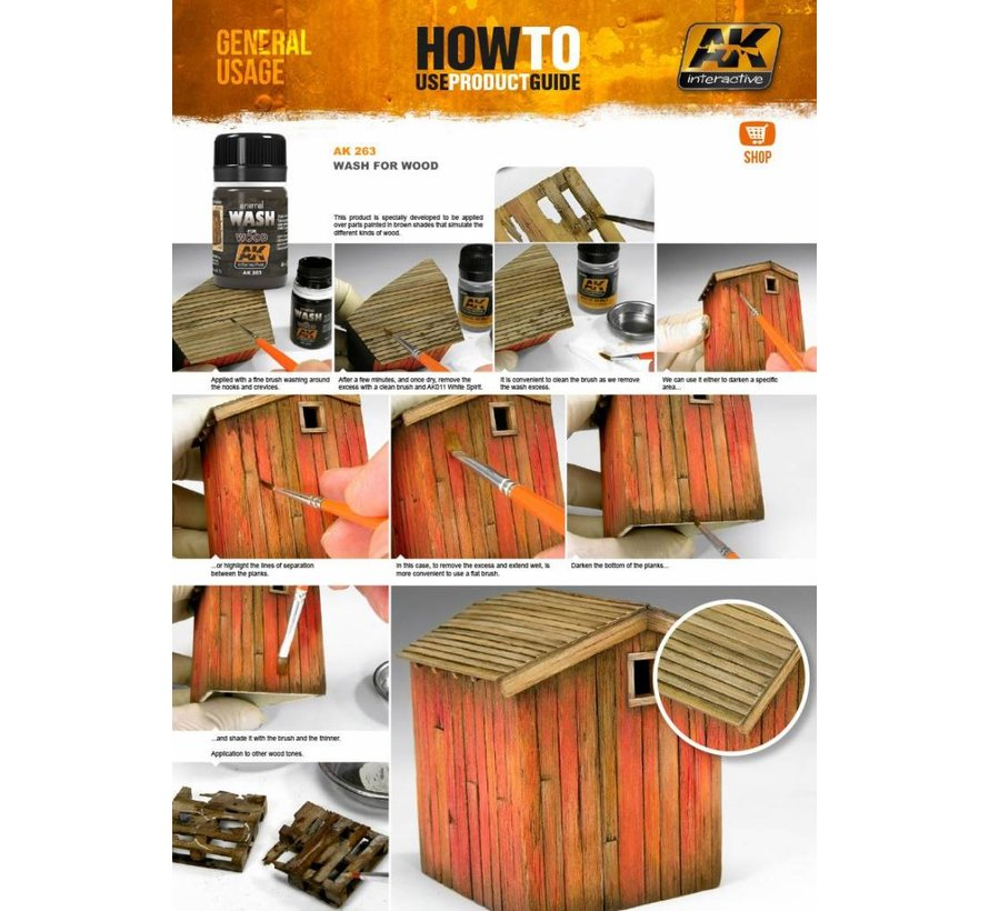 Wash For Wood - Weathering Wash - 35ml - AK-263