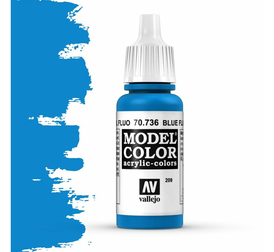 Model Color Blue Fluo - 17ml - 70736