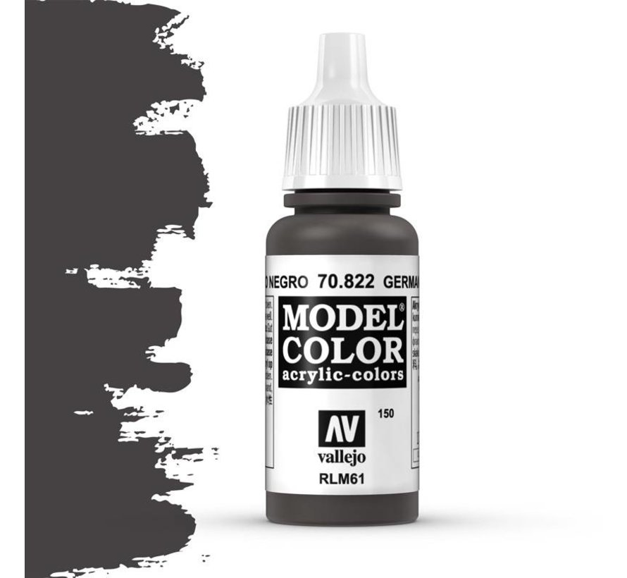 Model Color German Camouflage Black Brown -17ml -70822