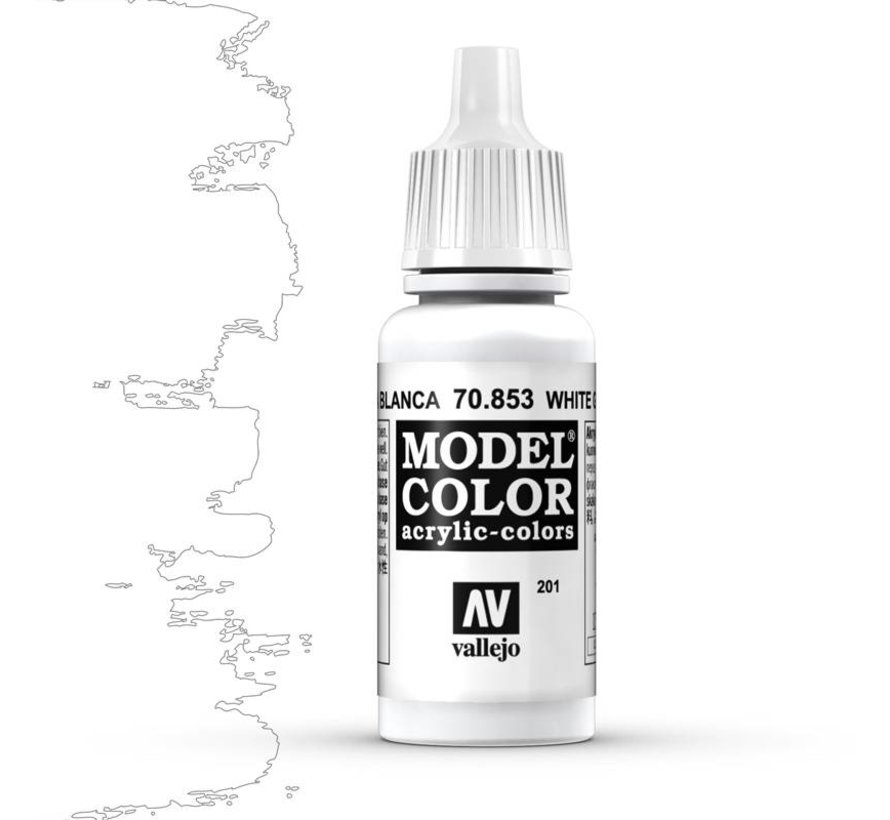 Model Color White Glaze -17ml -70853