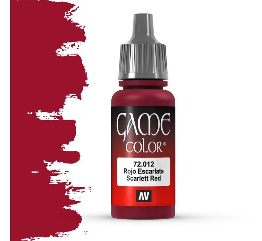 Game Color Scarlet Red - 17ml - 72012