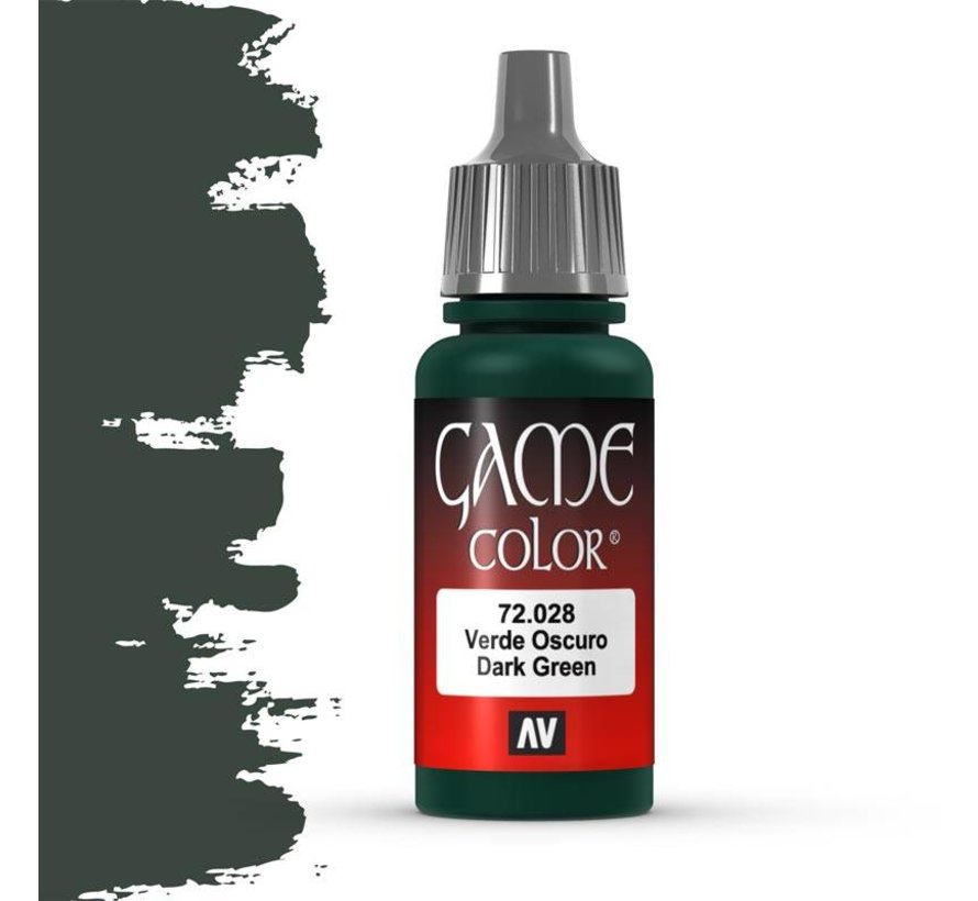 Game Color Dark Green - 17ml - 72028