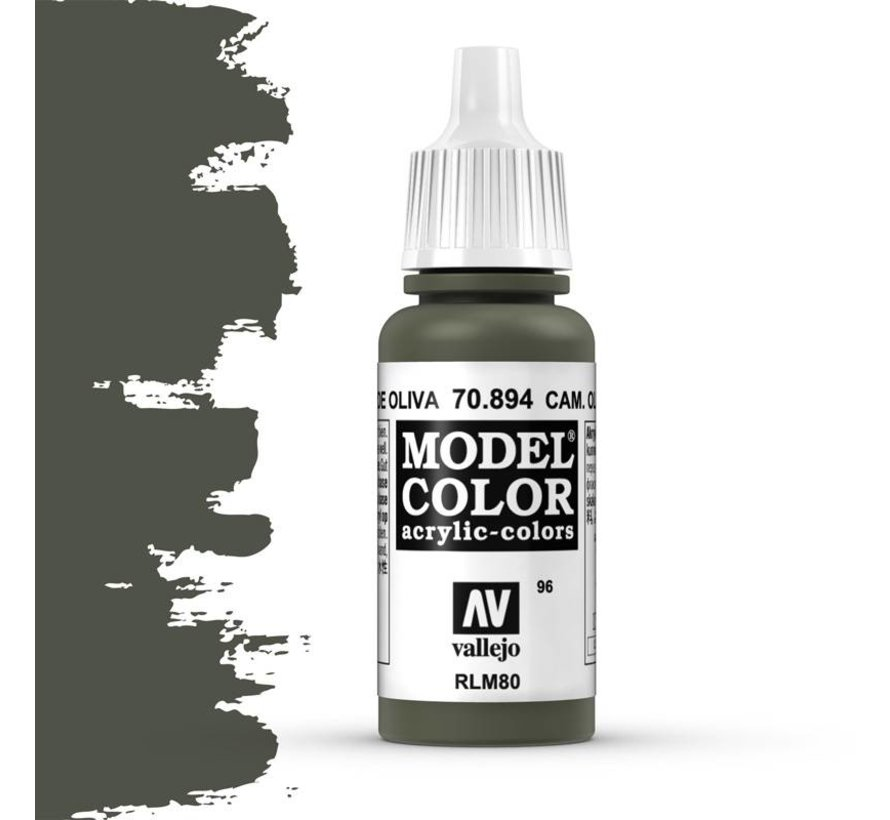 Model Color Camouflage Olive Green -17ml -70894