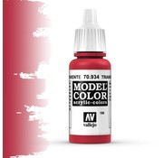 Vallejo Model Color Transparant Red -17ml -70934
