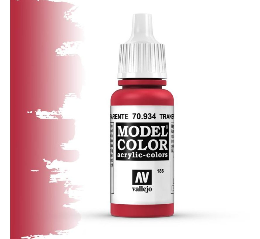 Model Color Transparant Red -17ml -70934