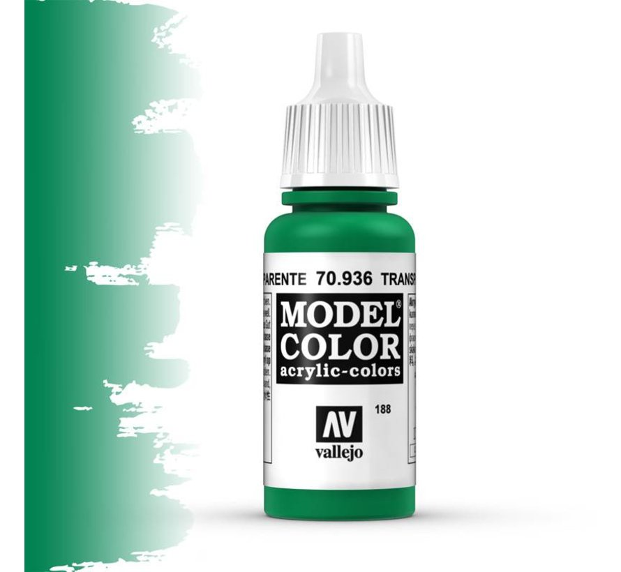 Model Color Transparant Green -17ml -70936