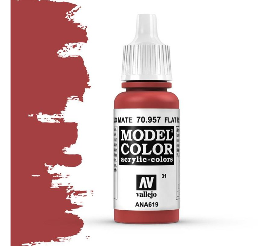 Model Color Flat Red -17ml -70957
