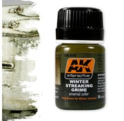 AK interactive Streaking Grime For Winter Vehicles - Streaking Weathering - 35ml - AK-014