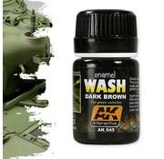 AK interactive Dark Brown Wash For Green Vehicles - Weathering Wash - 35ml - AK-045
