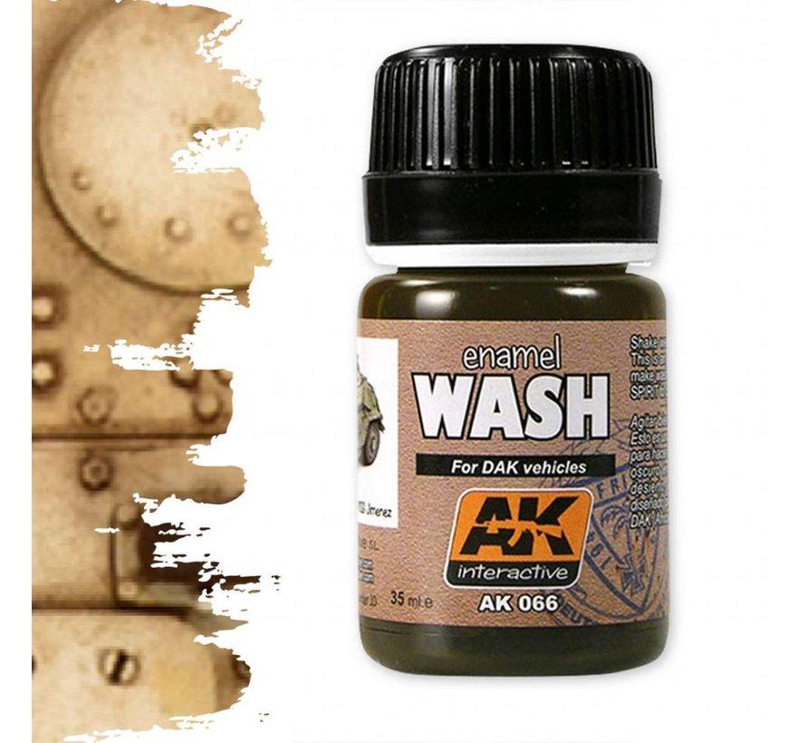 Wash For Afrika Korps Vehicles - Weathering Wash - 35ml - AK-066