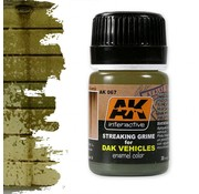 AK interactive Streaking Grime For Afrika Korps Vehicles - Streaking Weathering - 35ml - AK-067