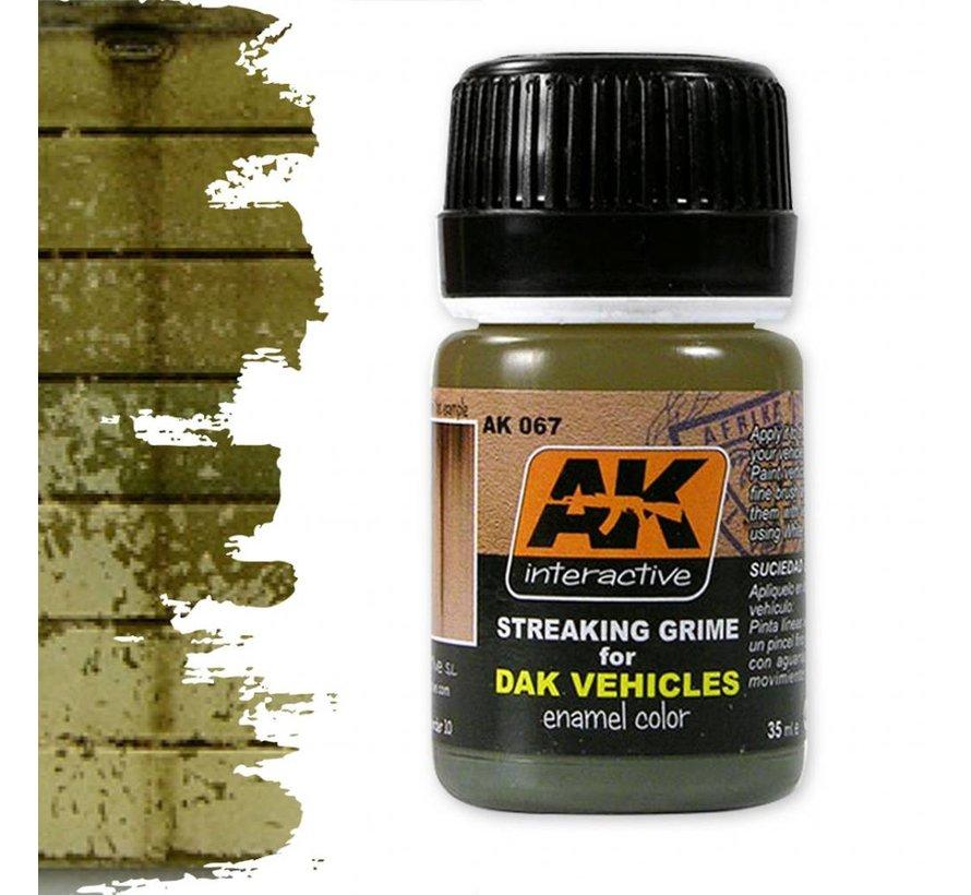 Streaking Grime For Afrika Korps Vehicles - Streaking Weathering - 35ml - AK-067