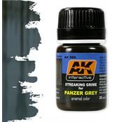 AK interactive Streaking Grime For Panzer Grey Vehicles - Streaking Weathering - 35ml - AK-069