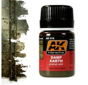 AK interactive Damp Earth Effects - Nature Weathering - 35ml - AK-078