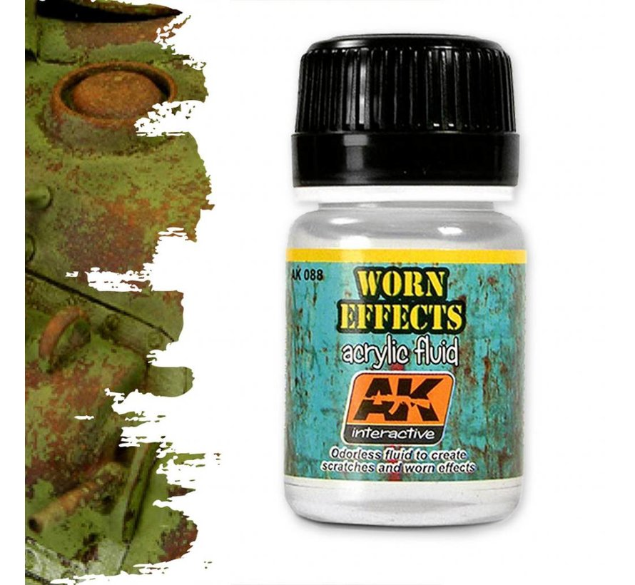 Worn Effects Acrylic Fluid - AK Weathering Products - 35ml - AK-088