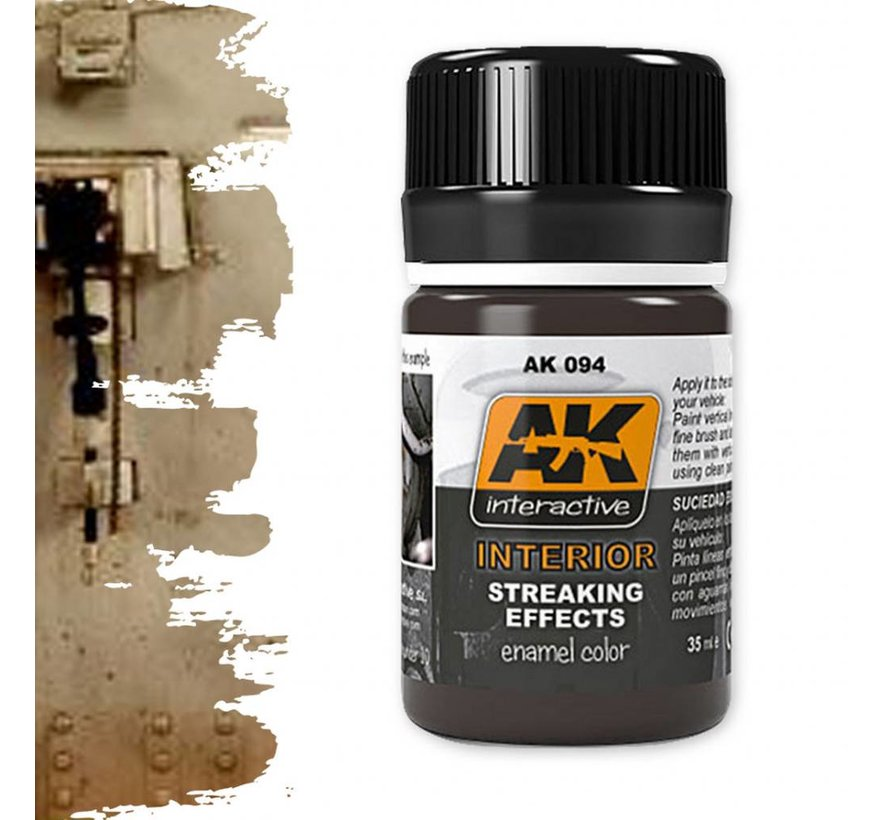 Interior Streaking Grime - Streaking Weathering - 35ml - AK-094