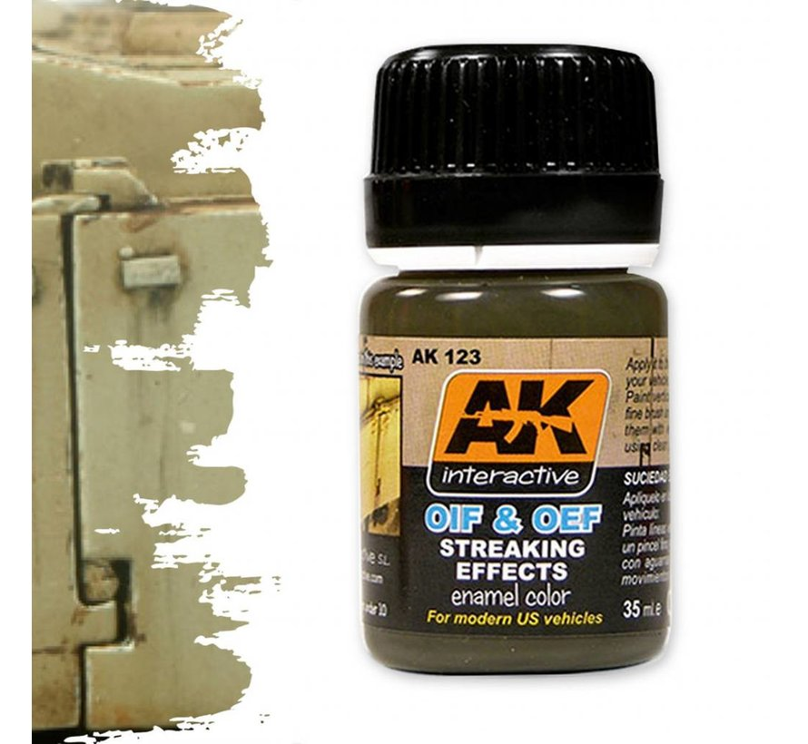 Streaking Effects For OIF & OEF - US Vehicles - Streaking Weathering - 35ml - AK-123
