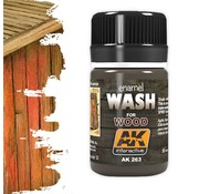 AK interactive Wash For Wood - Weathering Wash - 35ml - AK-263