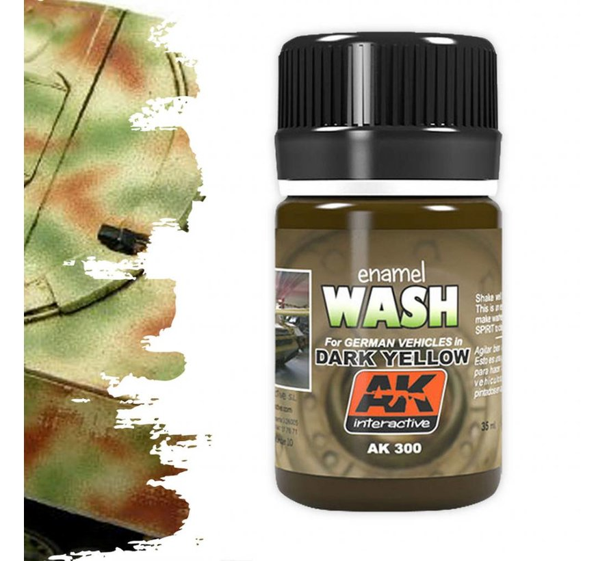 Wash For Dark Yellow Vehicles - Weathering Wash - 35ml - AK-300