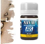 AK interactive Dark Wash For Wood Decks - Naval Ships Weathering - Wash - 35ml - AK-301