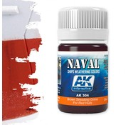 AK interactive Brown Streaking Grime For Red Hulls  - Naval Ships Weathering - Streaking - 35ml - AK-304
