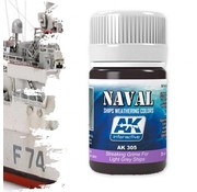 AK interactive Streaking Grime For Light Grey Ships  - Naval Ships Weathering - Streaking - 35ml - AK-305