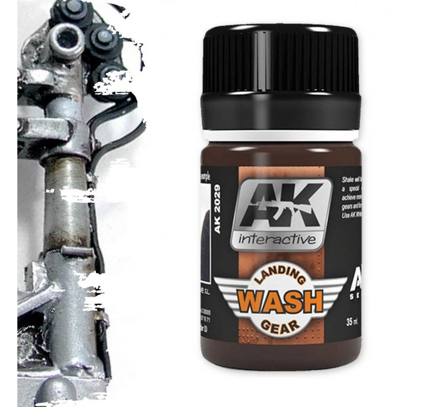 Wash For Landing Gear - Air Series - Weathering Wash - 35ml - AK-2029