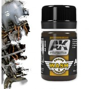 AK interactive Wash For Aircraft Engine - Air Series - Weathering Wash - 35 ml - AK-2033