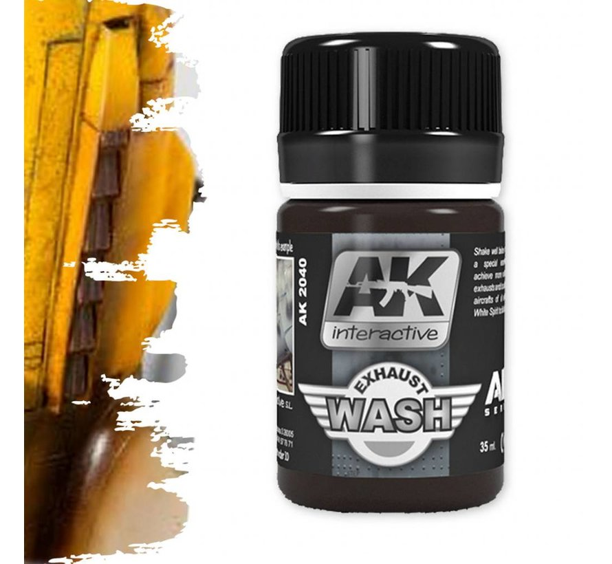 Wash For Exhaust - Air Series - Weathering Wash - 35ml - AK-2040
