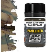 AK interactive Paneliner For Brown And Green Camouflage - Air Series - AK Weathering - 35ml - AK-2071