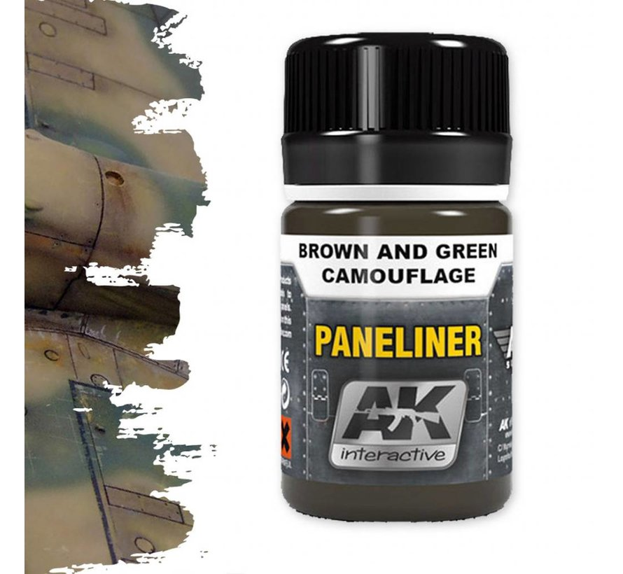 Paneliner For Brown And Green Camouflage - Air Series - AK Weathering - 35ml - AK-2071