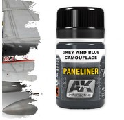 AK interactive Paneliners for Grey and Blue Camouflage -35ml - AK2072