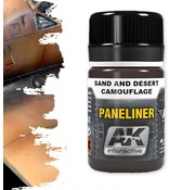 AK interactive Paneliner For Sand And Desert Camouflage - Air Series - AK Weathering - 35ml - AK-2073