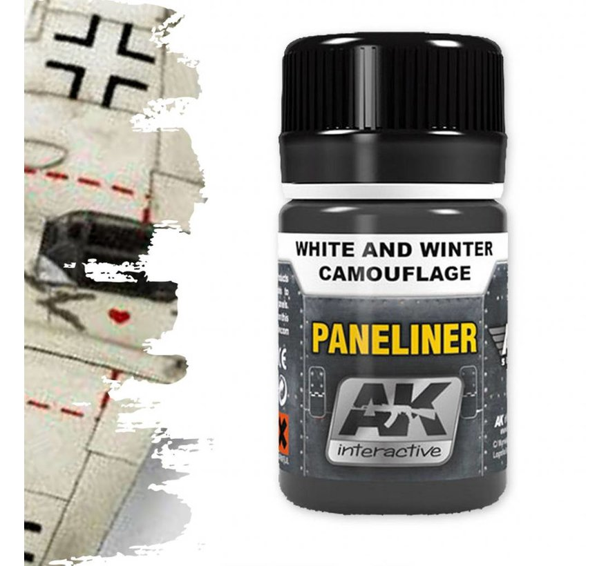Paneliner For White And Winter Camouflage - Air Series - AK Weathering - 35ml - AK-2074