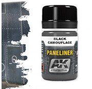 AK interactive Paneliner For Black Camouflage - Air Series - AK Weathering - 35ml - AK-2075