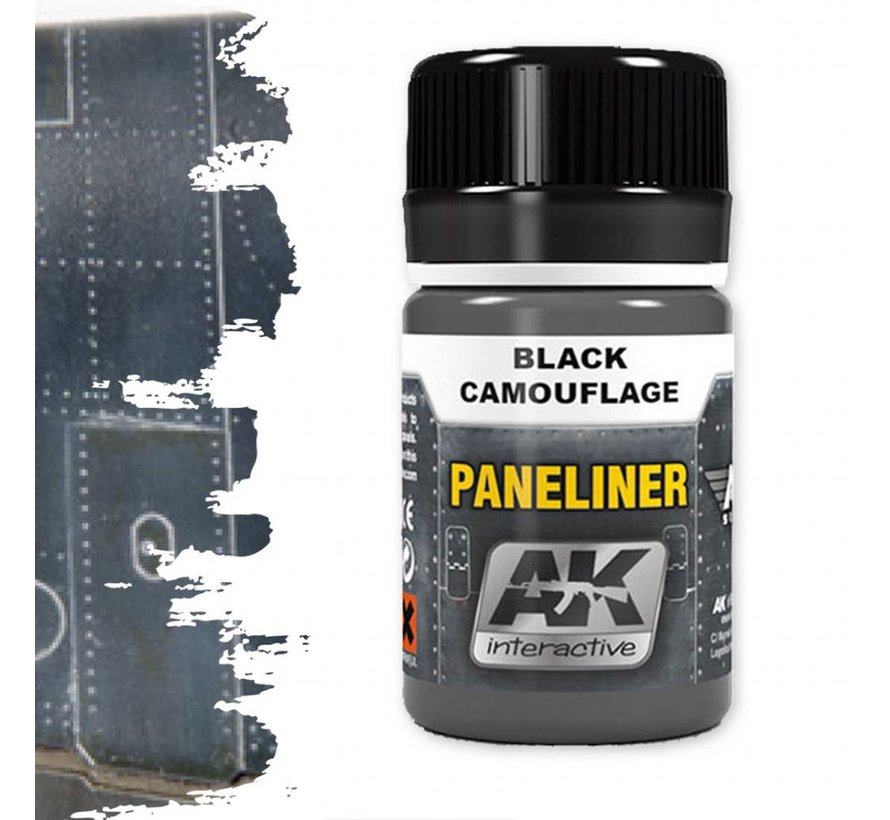 Paneliner For Black Camouflage - Air Series - AK Weathering - 35ml - AK-2075