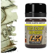 AK interactive Brown Earth Deposit - Deposit Weathering - 35ml - AK- 4063