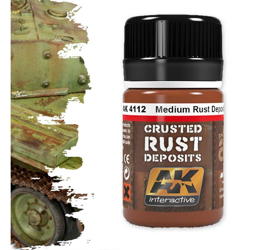 Medium Rust Deposit - Deposit Weathering - 35ml - AK- 4112