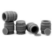 Mini Monsters Big Wooden Barrels - 5x - MM-0004