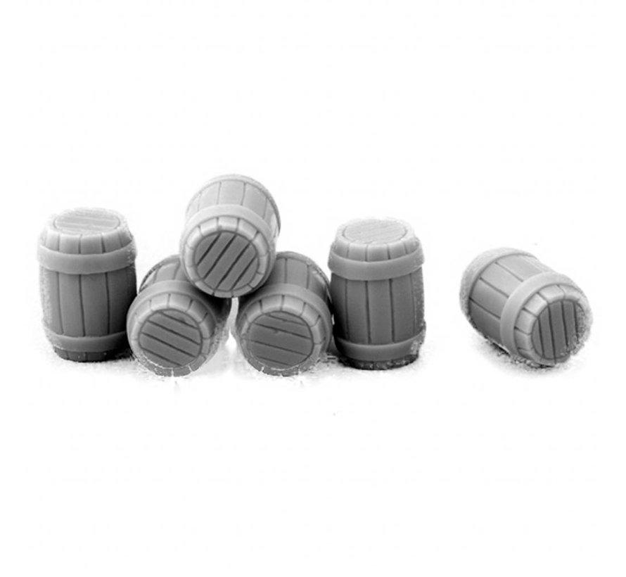Wooden Barrels - 6st - MM-36