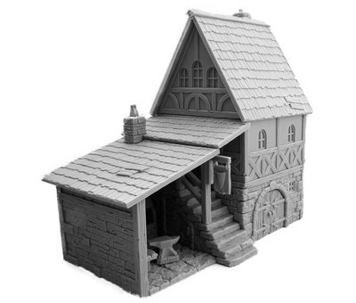 Mini Monsters Medieval Blacksmith House - MM-0028