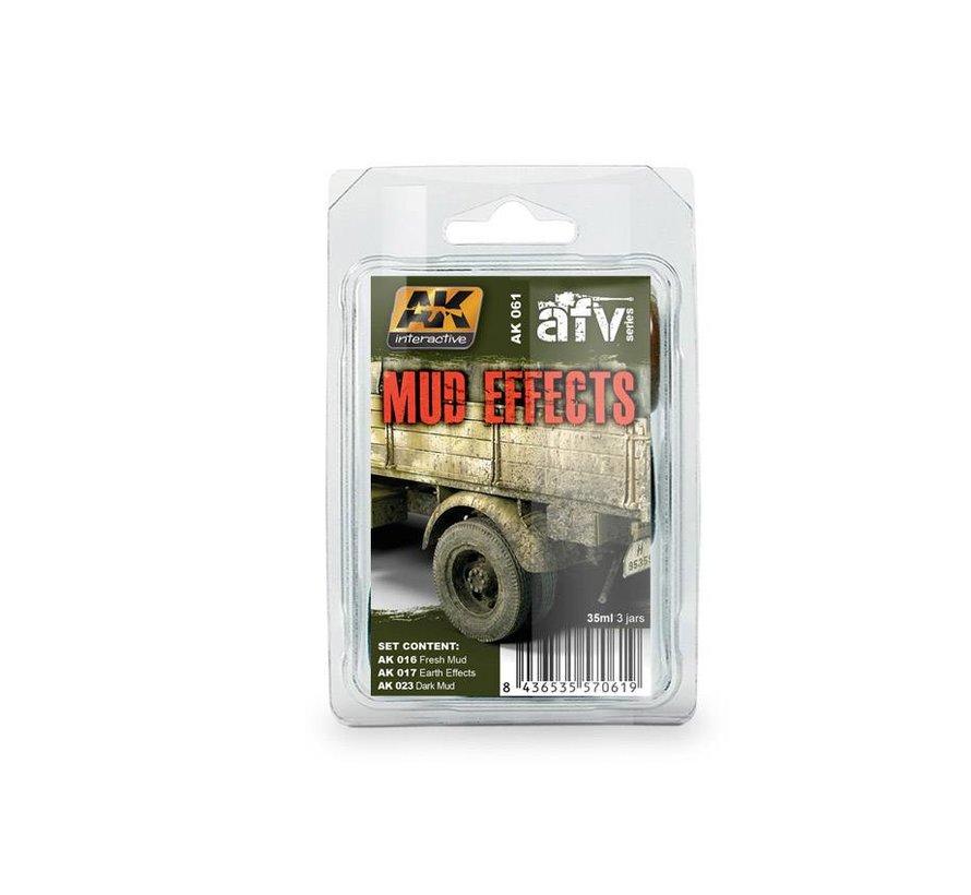 Mud Effects Set - AFV Series - 3x35ml - AK-061