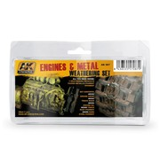 AK interactive Engines and Metal Weathering Set - 5x35ml - AK087